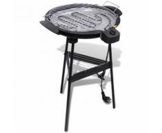 vidaXL Barbecue Electrique Grille Ronde pour Jardin