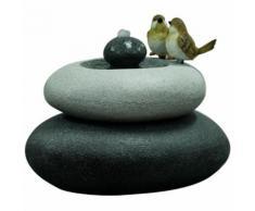 Velda Fontaine de jardin Oiseaux sur pierre double 850844