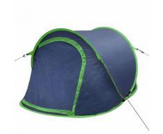 vidaXL Tente de camping pour 2 personnes bleu-marine / Vert