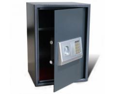 vidaXL Coffre-fort numérique électronique avec étagère 35 x 31 x 50 cm