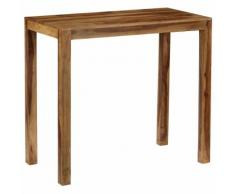 vidaXL Table de bar Bois de Sesham massif 118 x 60 x 107 cm