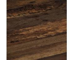 vidaXL Table basse Opium Bois de traverse et acier 80 x 78 x 35 cm