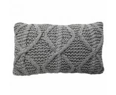 Overseas Oreiller tricoté 30 x 50 cm Taupe