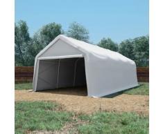 vidaXL Tente de rangement PVC 550 g/m² 4 x 8 m Blanc