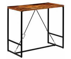 vidaXL Table de bar Bois recyclé solide 120 x 60 x 106 cm