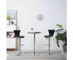 vidaXL Chaise de bar pivotante 2 pcs Similicuir 40 x 47 x 105 cm Noir