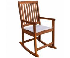 vidaXL Chaise à bascule pour jardin en acacia massif