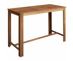 vidaXL Table de bar Bois d'acacia solide 150 x 70 x 105 cm