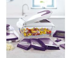 Cucinapro Hachoir et trancheuse avec 7 inserts Violet