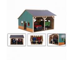 Kids Globe hangar de ferme pour tracteurs jouet Échelle 1:16 Bois 610338
