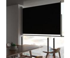 vidaXL Auvent latéral rétractable de patio 160 x 300 cm Noir
