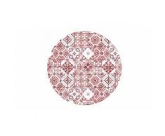 Tapis carreaux de ciment antidérapant : 90 cm / Rouge