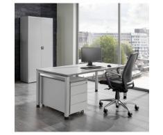 Bureau complet ARCOS bureau, armoire à porte battante, caisson roulant à 3 tiroirs ,mauser
