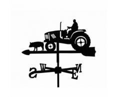 """""""Girouette Fermier sur son Tracteur en fer forgé"""""""