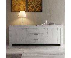NOUVOMEUBLE Enfilade contemporaine couleur chêne blanchi LOGGIA 2