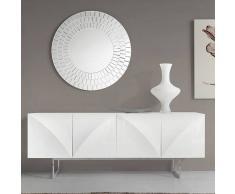 NOUVOMEUBLE Enfilade design blanc laqué effet 3D MANAMA