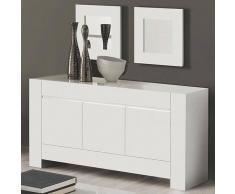 NOUVOMEUBLE Enfilade 165 cm blanc laqué design 3 portes BIANCO