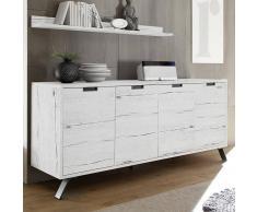 NOUVOMEUBLE Enfilade moderne couleur chêne blanchi JACE 4