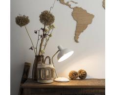 QAZQA Lampe de table moderne blanc et bronze - Milou