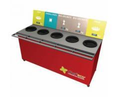 table de tri 5 collecteurs 3 pesées t enfant h. 600 mm rouge,