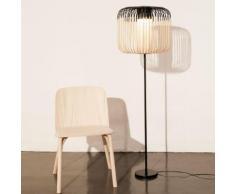 BAMBOO-Lampadaire Bambou et Noir H150cm Noir Forestier - design par Arik Levy