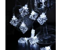 """SNOWFLAKE-Guirlande 15 Flocons LED 3,3m Transparent Xmas Living Glass"""