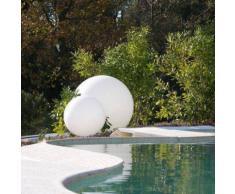 GLOBO OUT-Lampe de sol d'extrieur 70cm Blanc Slide
