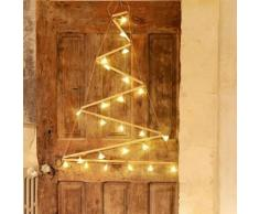 TRIANGLE-Sapin de Nol mural destructur lumineux 24 LED H90cm Bois Blachere Illumination