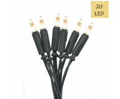 """P LED-Guirlande 20 LED L4,35m Vert Xmas Living Glass"""