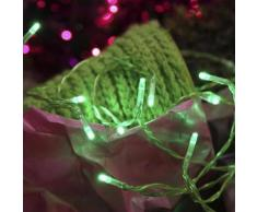 """LED WIRE-Guirlande 15 LED pile L2,6m Vert Xmas Living Glass"""
