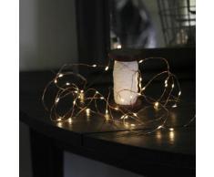 """""""DEW DROPS-Guirlande fine 40 LED pile L3,9m Cuivre Xmas Living Glass"""""""