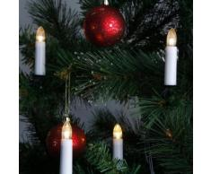 DOUBLE WIRE-Guirlande 16 bougies lumineuses pince L12m Blanc Xmas Living Glass