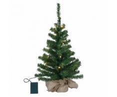 TREE-Sapin de Nol lumineux 20 LED H60cm Vert Xmas Living Glass