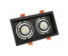Spot LED Cree-COB Madison Orientable 2x10W Noir Blanc Froid 5000K