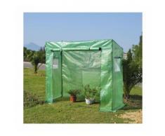 Serre de Jardin serre à tomates 200L x 77l x 169H cm acier PE haute densité 140 g/m² anti-UV avec