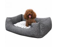 Panier pour Chien Lit S 60 x 50 x 22cm Dog Bed Coussin Matelas Animaux PGW22G