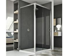 Cabine Douche 80x110 CM H185 transparent modèle Replay Duo 1 Portillon