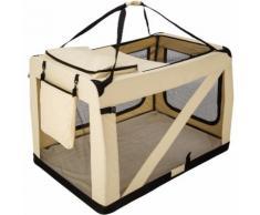 Cage de transport pour chien mobile pliable et transportable Taille XXXXL - 122 cm x 79 cm x 80 cm