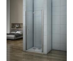 Porte de douche 76x187cm porte de douche pivotante et pliante installation en niche