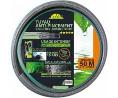 Tuyau d'arrosage tricoté 5 couches double renfort TSF+ Cap Vert - Longueur 50 m - Diamètre 19 mm