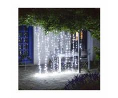 Rideau lumineux à LED électrique 2 x 4 m - Blanc froid - 2 x 4 m