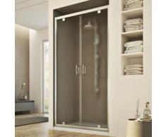 Porte Douche 100CM H185 granité C modèle Sintesi 2 Portillons