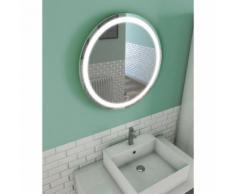 Miroir salle de bain LED auto-éclairant CIRCLE LIGHT diamètre 59cm