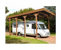 Carport bois traité spécial Camping Car- 32,40 m²