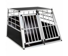 Cage, caisse, box de transport double pour chien en Aluminium avec cloison amovible Confort ++ 97