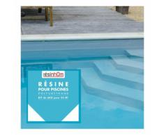 Résine polyuréthane spécial piscine 6kg /45M2 bleu