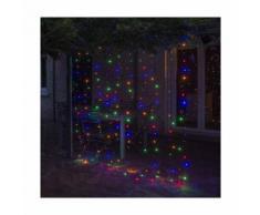 Rideau lumineux à LED électrique 2 x 1.5 m - Multicolore - 2 x 1.5 m