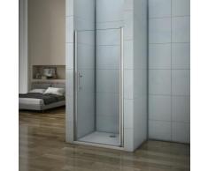 Porte de douche 80x197cm porte de douche pivotante installation en niche