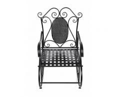 Feuteuil Chaise à bascule en fer pour Balcon Jardin Salle GRC101B