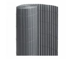 Canisse PVC double face Anthracite 6 m - 2 rouleaux de 3 x 1,50 m - Jardideco